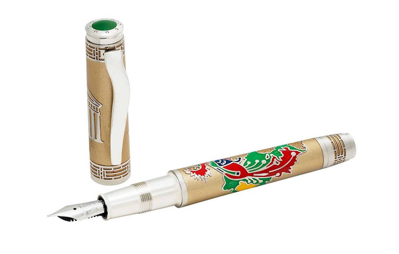 4. Omas Phoenix Platinum Fountain Pen Luxury Limited Edition
