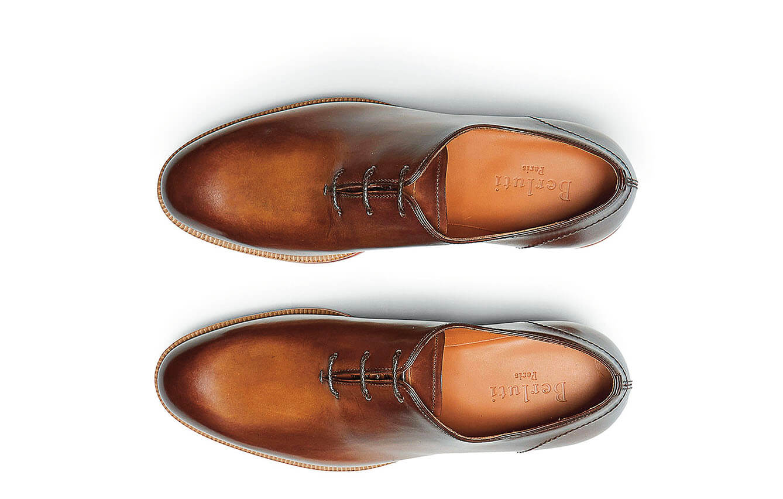 Berluti Alessio Whole-Cut Polished-Leather Oxford Shoes