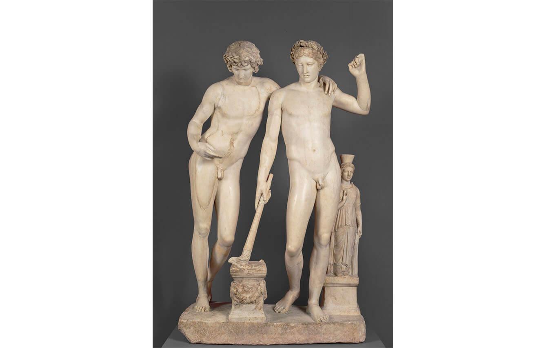 15 Orestes y Pílades o Grupo de San Ildefonso, Escuela de Pasiteles (Año 10 a.C)