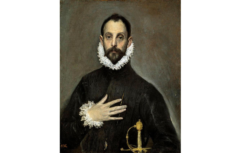 2 El caballero de la mano en el pecho, El Greco (Hacia 1580)