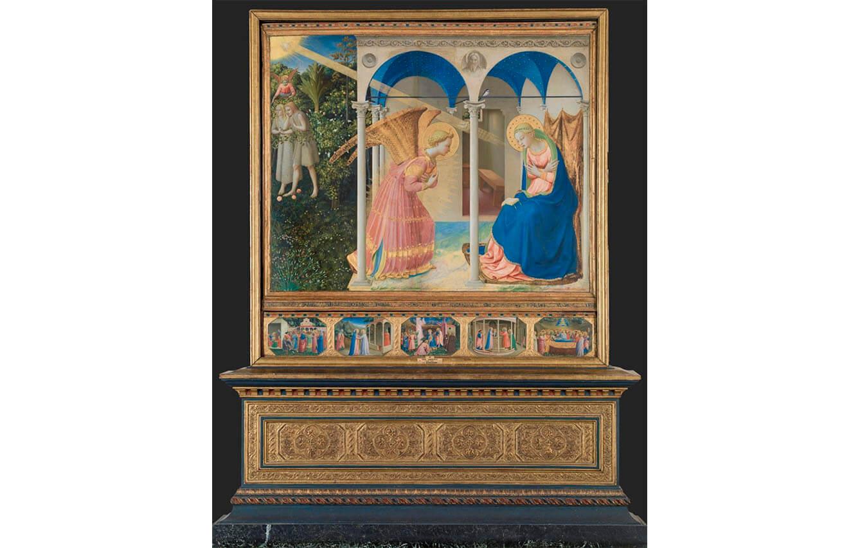 6 La anunciación, Fra Angelico (1425-1426)