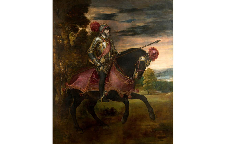 8 Carlos V en la Batalla de Mühlberg, Tiziano (1548)
