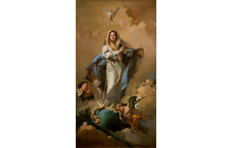 9 La Inmaculada Concepción, Giambattista Tiepolo (1767-1769). Sala 019