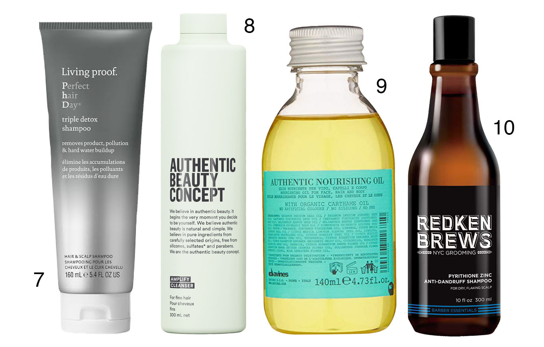 CHAMPÚ:  Limpian, arrastran residuos, eliminan células muertas, contaminación y partículas de productos de peinado, dejando el cabello suave, con brillo e hidratación.