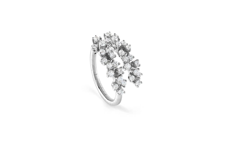 DAMIANI - Mimosa anillo en oro blanco y diamantes