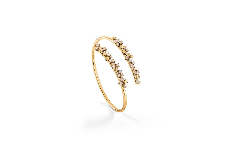 Bracelete en oro amarillo y diamantes