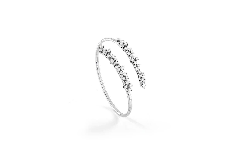 Bracelete en oro blanco y diamantes