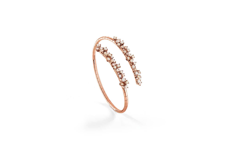 Bracelete en oro rosado y diamantes