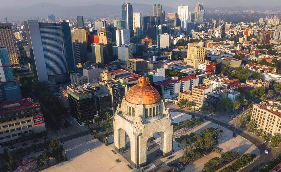 La Ciudad de México desde las alturasSubtítulo