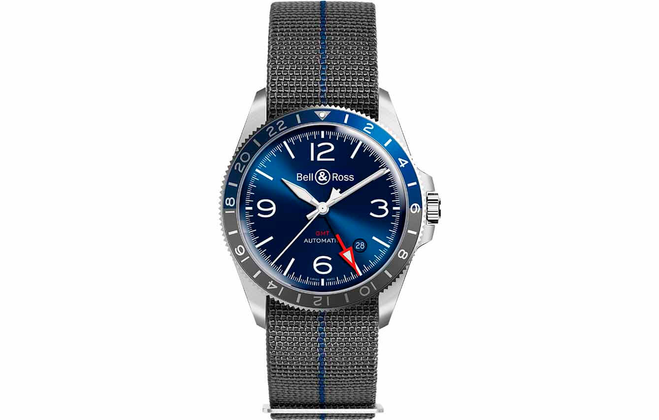 Bell & Ross V2-93 GMT Blue