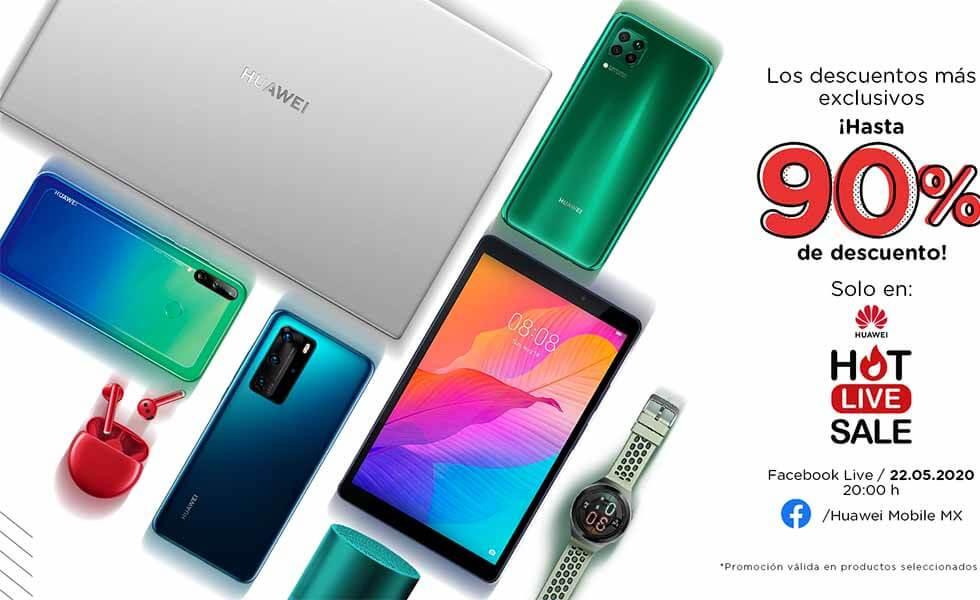 Huawei ofrece descuentos de hasta 90% en su Hot Live SaleSubtítulo