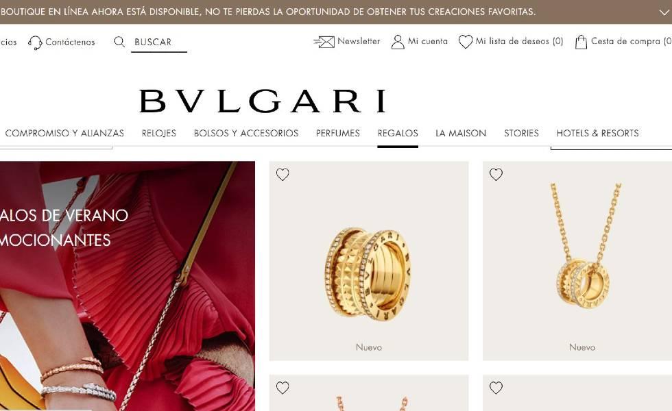 Bvlgari lanza su web de e-commerce en MéxicoSubtítulo