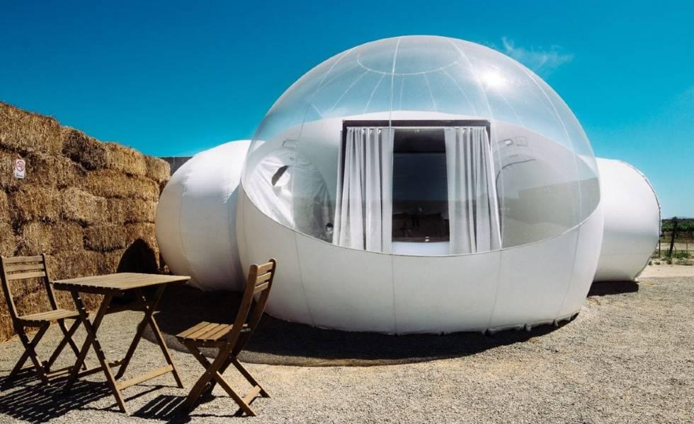 Un hotel de Baja California donde sus habitaciones son burbujasSubtítulo