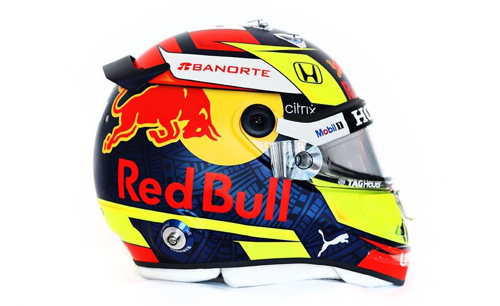 Este es el casco que usará 'Checo' Pérez con Red BullSubtítulo