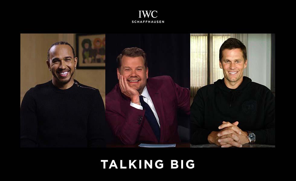 Tom Brady y Hamilton charlan con James Corden para IWCSubtítulo