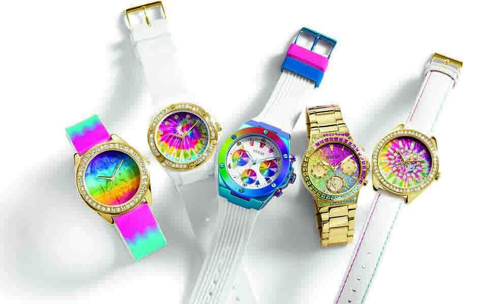 Descubre los nuevos y coloridos relojes de GuessSubtítulo